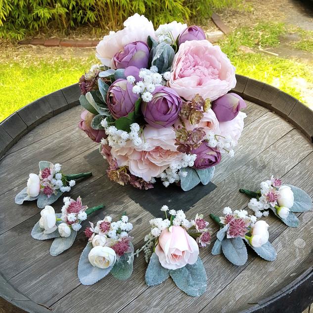 Wedding bouquet, corsages and buttonholes