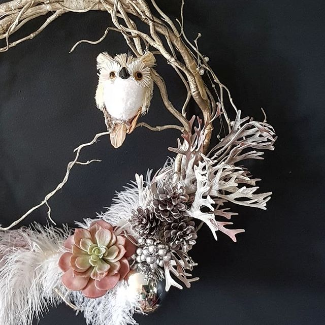 I loved making this Christmas Wreath