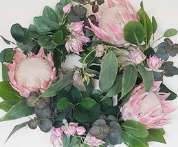 Native protea wreath.
