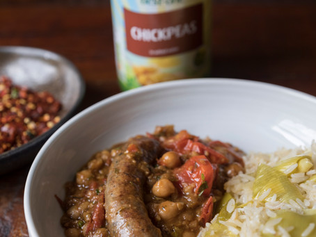 Spicy Chickpea & Sausage Stew