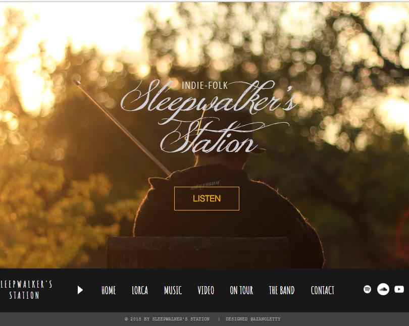 Web design  Official Site Sleepwalker's Station.