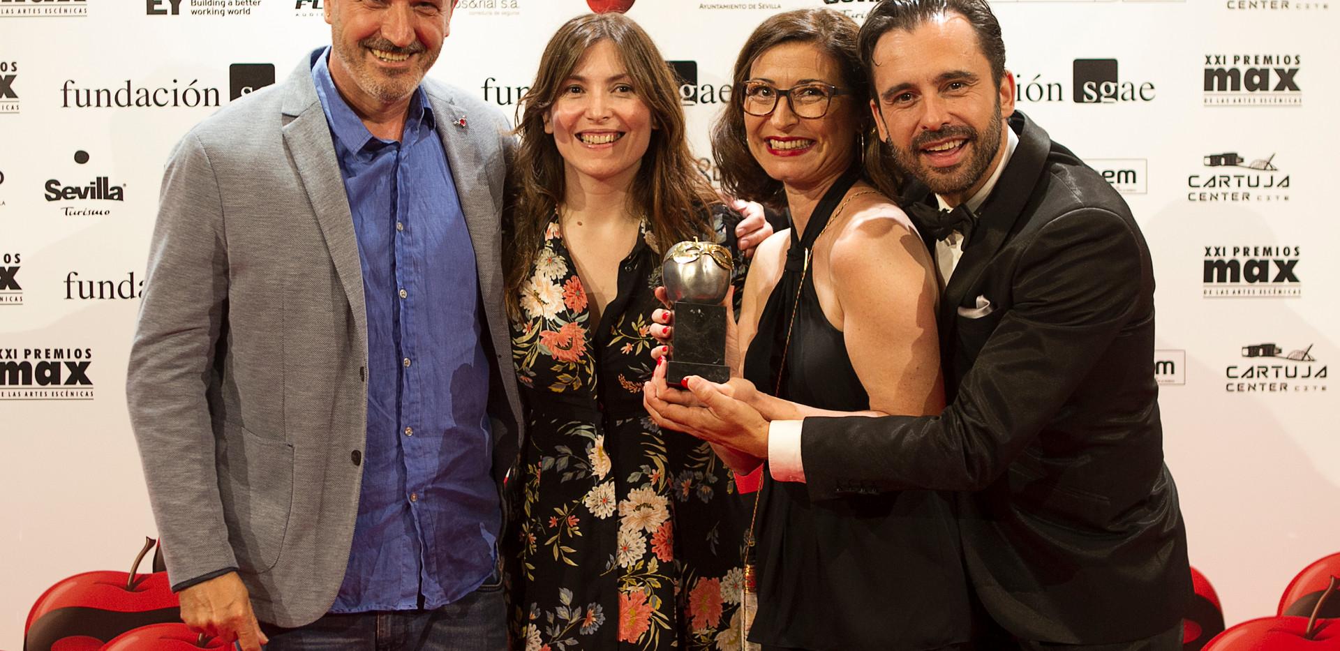 Premios Max de la Artes Escénicas, 2018. SGAE.