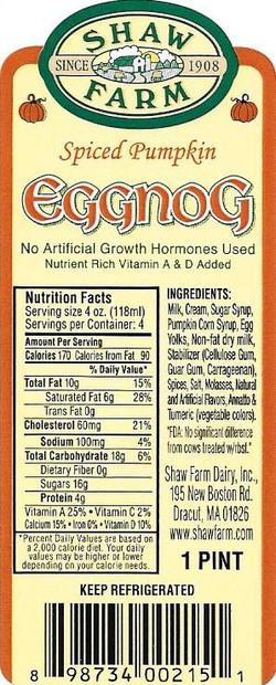 Shaw Farm.Eggnog