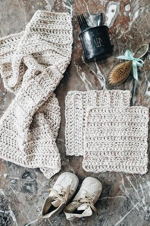 Baby Gift Set {washcloths + burp cloth}