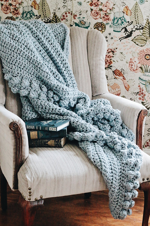 Large Scrunchy Throw {Chambray}