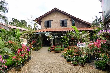 Fachada da loja Floricultua Paraíso em Rua Bahia, Blumenau SC