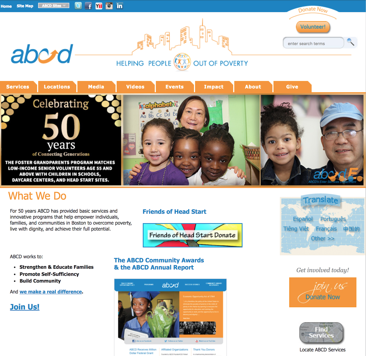 BEFORE: ABCD homepage