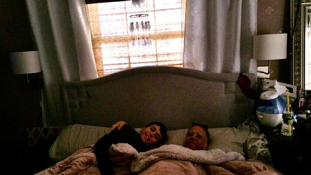 Jaime & Leo cuddling