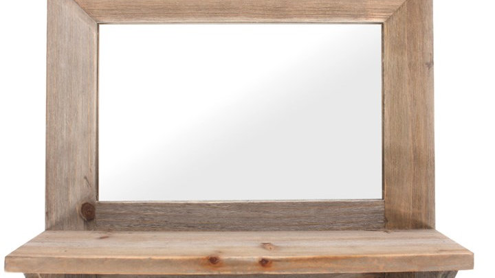 Driftwood Mirror with hooks