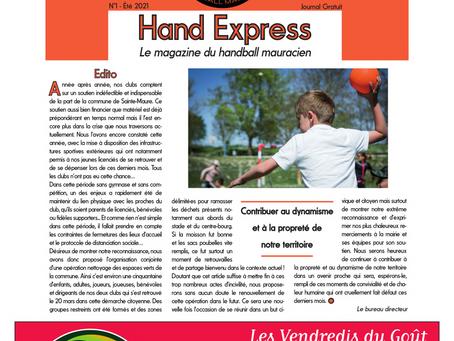 """Présentation du nouveau magazine du club : """"Hand Express"""" - Mai 2021"""