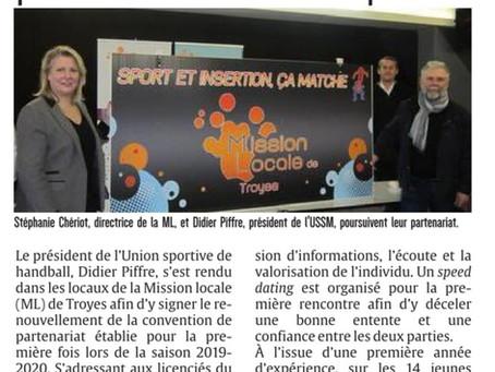 Renouvellement du partenariat avec la Mission Locale de Troyes