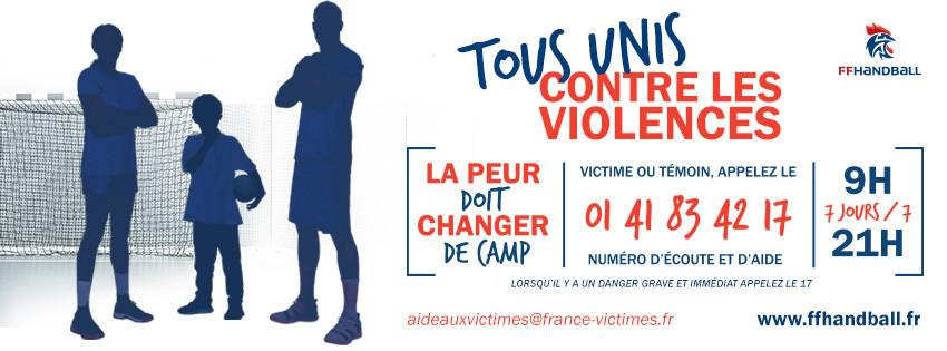 US Sainte-Maure Handball Masculin - FFHB - Tous Unis contre les violences
