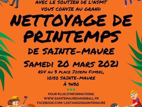 Grand Nettoyage de Printemps - Samedi 20 Mars à Ste-Maure