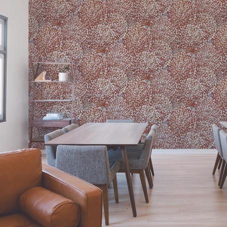 O uso de texturas em papéis de parede para projetos de decor dos seus clientes