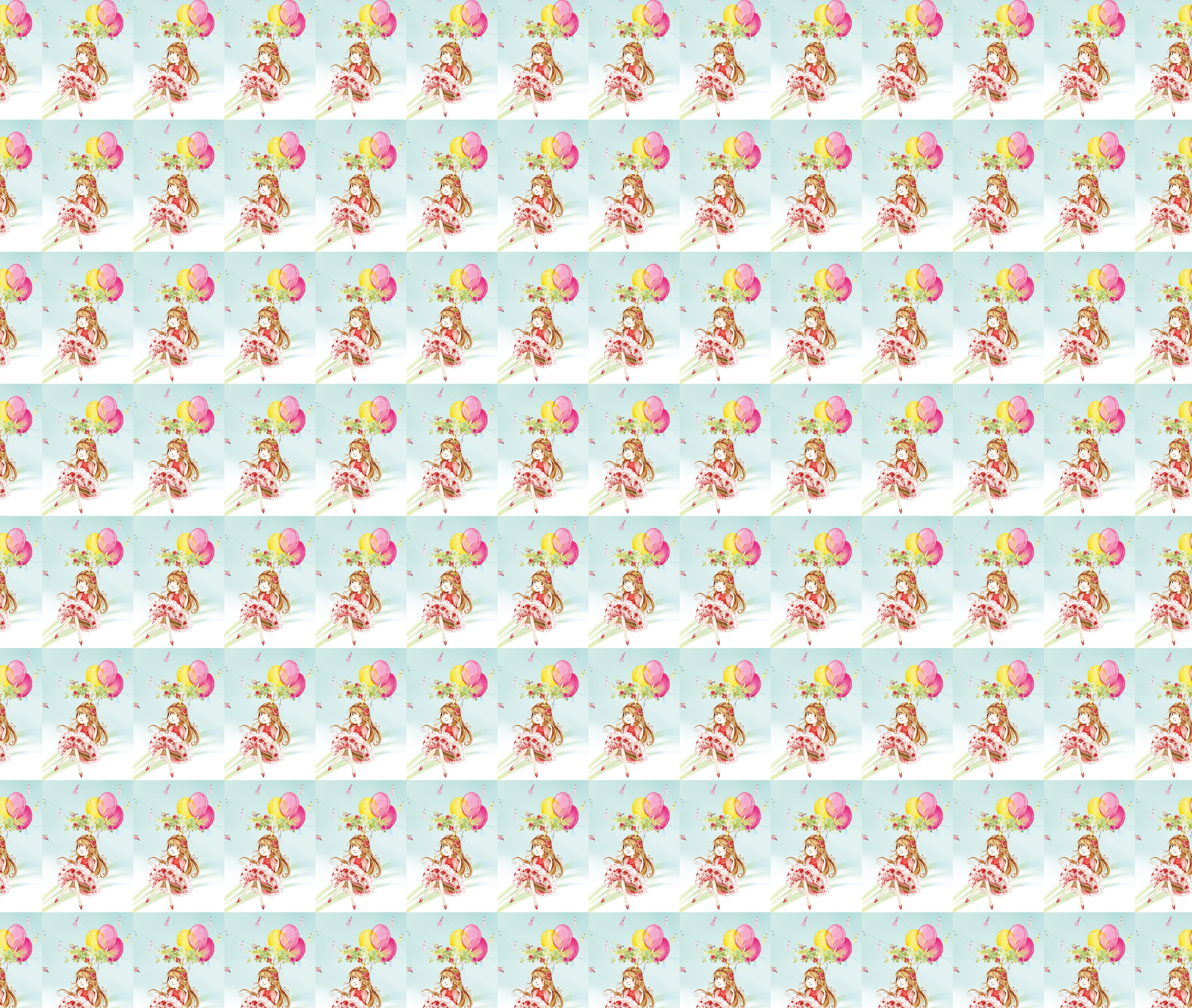 Impressão no padrão repetição, seguindo o conceito de papel de parede