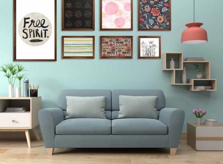 Papéis de parede com efeito tinta