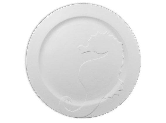 Rim Seahorse Plate