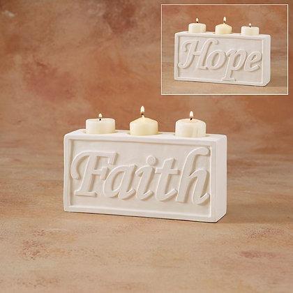 Faith/Hope2 Sided Candle Holder
