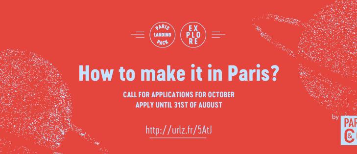 Paris&Co - Call for applications for Paris Landing Pack_Explore