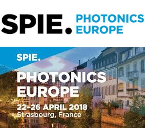 SPIE Photonics Europe - Strasbourg 22-26 April 2018