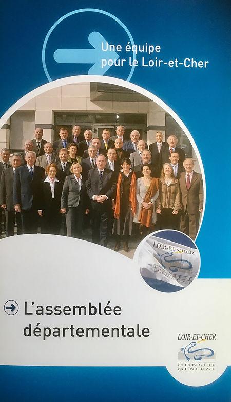 La plaquette de présentation de l'assemblée départementale du Loir-et-Cher