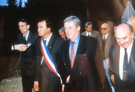 Inauguration de l'avenue Napoleon III en 1989 avec notamment Maurice Dousset et Roger Goemere
