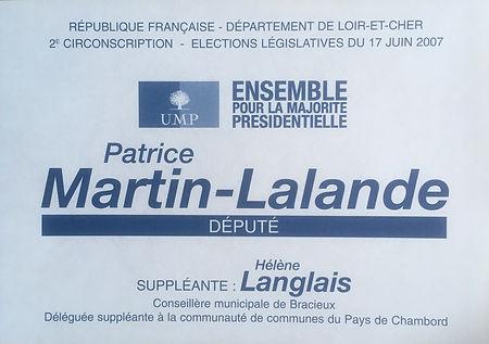 Bulletin de vote du 2nd tour des législatives 2007