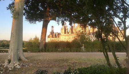 Le château de Chambord en matinée