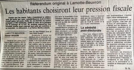 Article du Figaro du 16 mars 1984