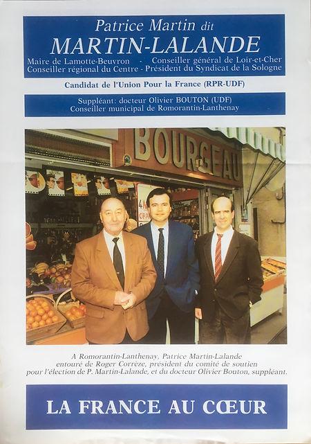 Profession de foi du 1er tour des législatives 1993