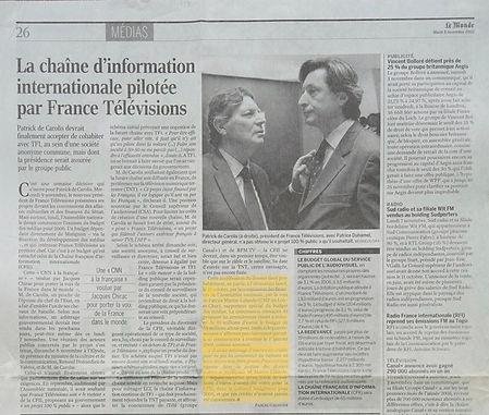 «Le Monde » : le rôle de PML comme rapporteur spécial du budget des médias