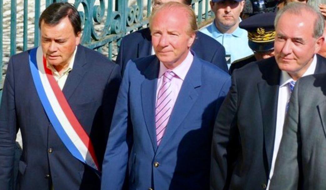 Visite du Ministre de l'intérieure Brice Horfefeux à St Aignan en juillet 2010