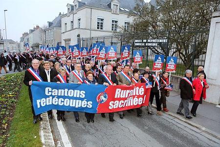 Manifestation contre le redécoupage des cantons en 2014
