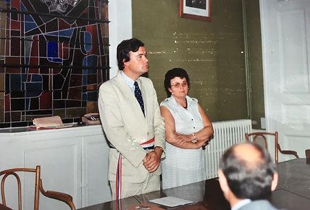 Célébration d'un mariage lamottois dans les années 1980