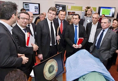 Avec le Ministre de l'économie et du numérique Arnaud Montebourg en 2014