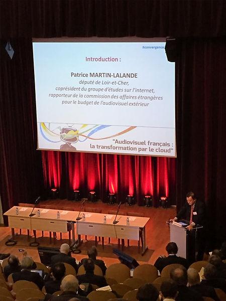 Patrice Martin-Lalande intervient aux 9èmes Assises de la convergence en 2015