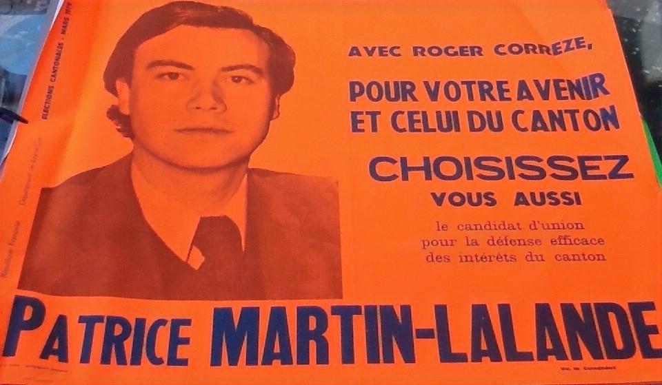 Affiche de Patrice Martin-Lalande aux élections cantonales de 1979