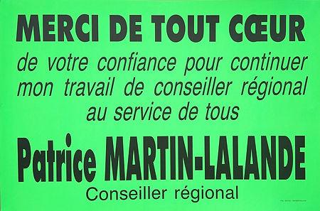 1992, début du second mandat de conseiller régional