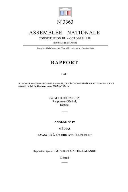 Couverture du rapport sur le budget des médias 2007 (2006)