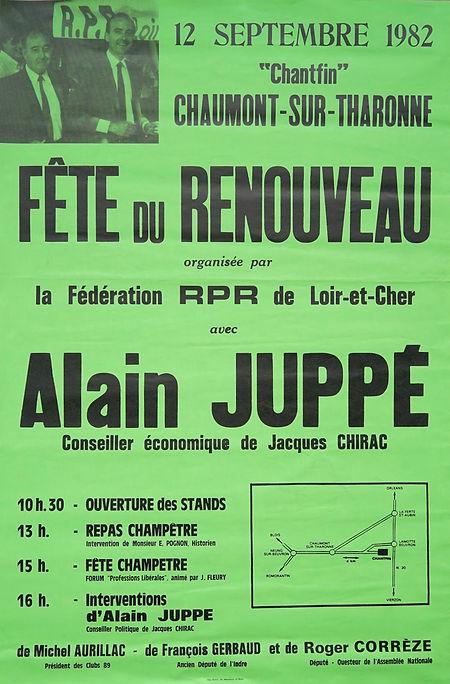 La fête du RPR de Loir-et-Cher que nous avions organisée autour d'Alain Juppé, déjà très apprécié comme «conseiller économique de Jacques Chirac »! C'est aussi le jour de mon élection à la mairie de Lamotte...
