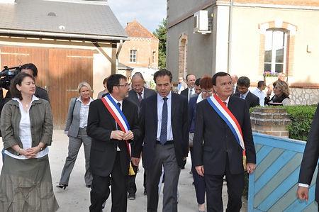 Inauguration du TBI de Vouzon le 12 mai 2011 avec le Ministre de l'éducation nationale Luc Chatel