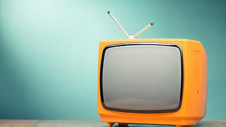 Un post de télévision vintage