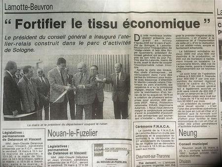 """""""Fortifier le tissu économique"""", La Nouvelle République,17mars 993"""