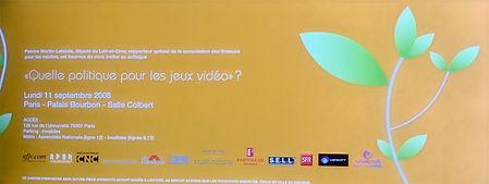 Colloque sur la politique des jeux vidéo organisé par Patrice Martin-Lalande le 11 septembre 2006