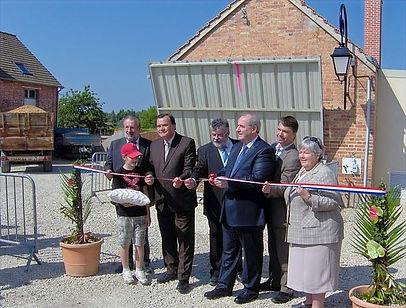 Inauguration de la chauffere bois de Villeny le 30 avril 2011, avec notamment Maurice Leroy