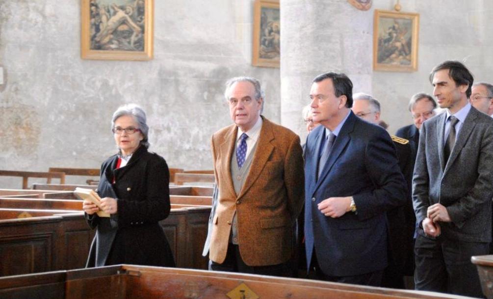 Visite du Ministre de la Culture et de la Communication Frédéric MITTERRAND à St Dyé en mars 2012
