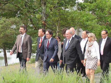 Inauguration de Pierrefitte-Les-Alicourts avec le Ministre du tourisme Frédéric Lefebvre le 24 juin 2011
