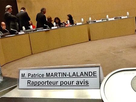 Chevalet de rapporteur pour avis du budget de l'audiovisuel extérieur de la France