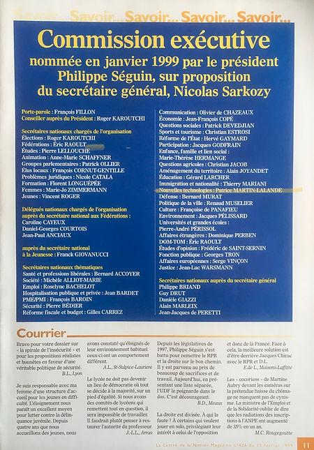 PML nommé secrétaire national RPR aux Nouvelles technologies par Philippe Séguin et Nicolas Sarkozy