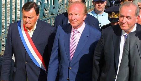 Venue du Ministr de l'intérieur Brice Hortefeux à St-Aignan le 19 juillet 2010